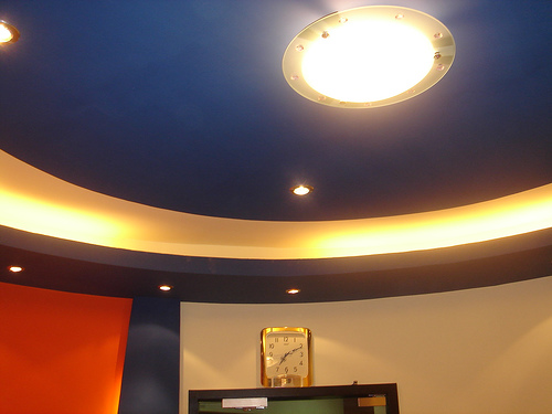 CEILING AT THE VYOM ELETRONIC CITY OFFICE RECEPTION